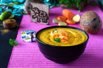 640- Carrot and Sweet Potato Thai Soup / حساء الجزر والبطاطس التايلاندي