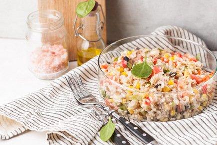 634- Whole Grain Rice Salad / سلطة الأرز الكامل