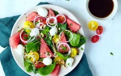 793- Watermelon and Mozzarella Salad / سلطة البطيخ وجبنة الموزاريلا