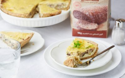 853- Mushrooms & Leek Tart / فطيرة مملحة بالفطر والبورو