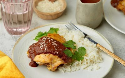 857- Poulet avec Sauce Chocolat / Chicken with Chocolate Sauce