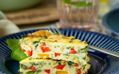 877- Frittata with Spinach and Peppers / فريتاتا بالسبانخ والفلفل