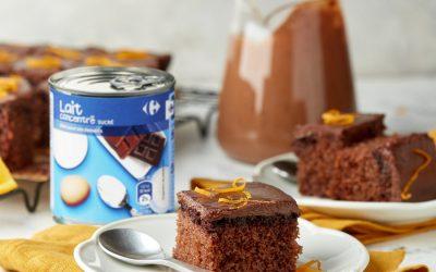 902- Orange Chocolate Basboussa / بسبوسة بالشوكولاتة والبرتقال