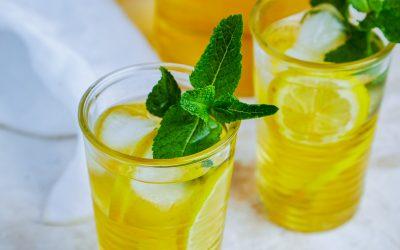 932- Thé glacé marocain à la menthe / Iced Moroccan Mint Tea