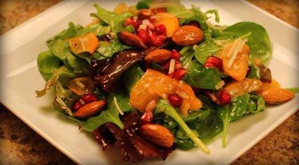 159 – Persimmon Salad with Moroccan Sweet Vinaigrette Recipe