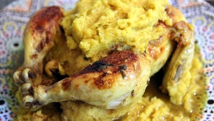192 – Moroccan Roasted Chicken M'Kalli and M'Hammer Recipe