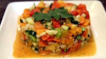 208 – Moroccan Tomato Cucumber Salad Recipe