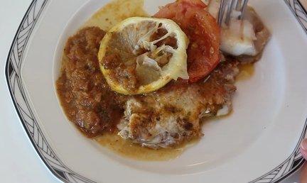 295 – Baked Fish with Moroccan Charmoula Recipe / سمك بالفرن مع شرمولة المغربي