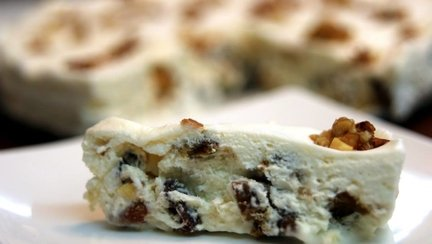 332 – Nougat glacé / Frozen Nougat Recipe / حلوى النوغا المثلجة