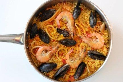 341 – Homemade Seafood Paella / الاطعمة البحرية الباييلا