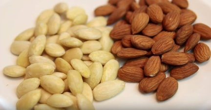 How to blanch almonds! / كيفية تقشير وقلى اللوز