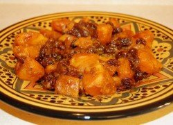 036 – Moroccan Salad of Sweet Potatoes and Raisins – Thanksgiving Recipe