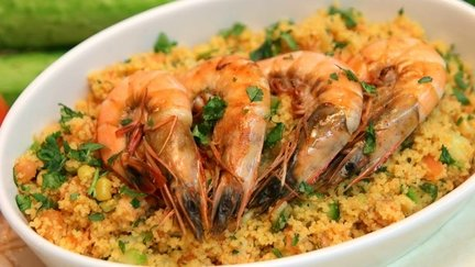 364 – Couscous Shrimp Salad / سلطة الكسكسي والجمبرى
