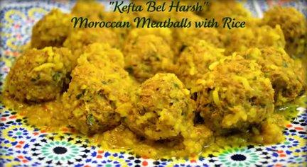 153 – Kefta Bel Harsh – Moroccan Meatballs with Rice