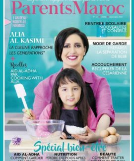 Alia featured in cover of Parents Maroc magazine