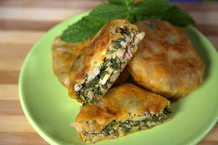 449 – Seafood and Spinach Pastilla / بسطيلة السمك والسبانخ