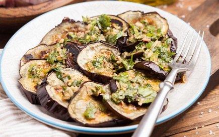 583- Salade de Chermoula Aubergine / Eggplant Chermoula Salad