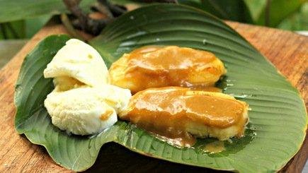 574- Banana with Coconut Caramel / موز بكاراميل جوز الهند
