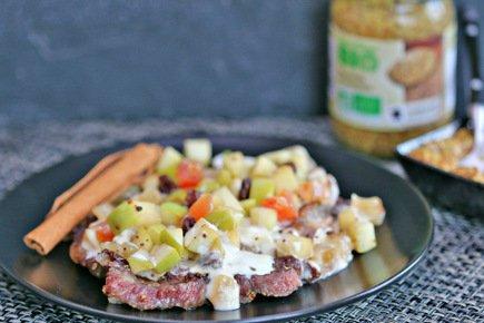 591- Faux Filet Aux Pommes et Fruits Secs / Steak with Apples and Dry Fruits