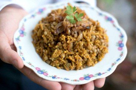 605- Mujadarra, Le Riz Aux Lentilles à La Libanaise / Mujadarra, Lebanese Style Rice with Lentils