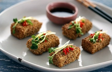 607- Tofu Sesame Pancakes (Dubu-Ggaejeon) / فطائر التوفو بالسمسم