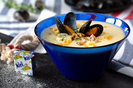 638- American Mussel Soup / حساء المحار الأمريكي