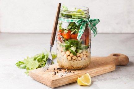 622- Quinoa Salad Jar / سلطة الكينوا