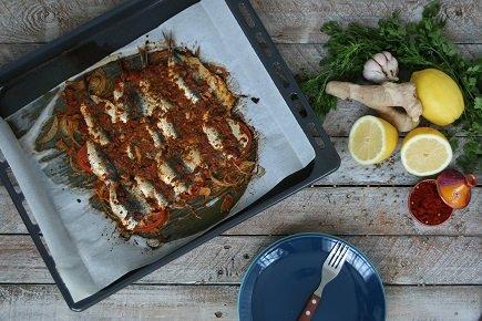 654- Grilled Sardines Chermoula / سمك السردين المشوي بالشرمولة