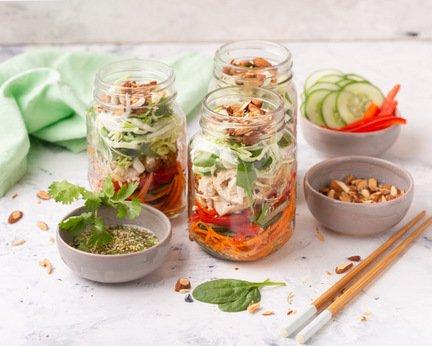 733- Salad Jar – Asian Twist / سلطة بلمسة آسيوية