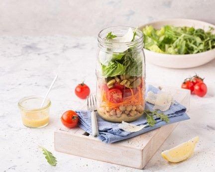 734- Salad jar – Italian Twist / سلطة بلمسة إيطالية
