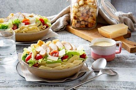 742- Chicken Caesar Pasta Salad / سلطة سيزر بالدجاج والمعكرونة