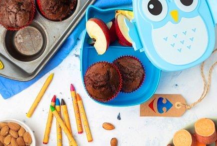 745- Chocolate Sweet Potatoes Muffins / مافنز الشوكولاتة والبطاطس الحلوة