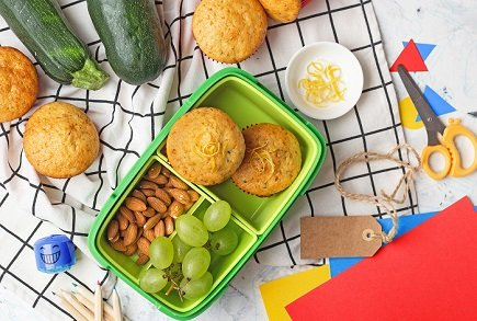 746- Lemon Zucchini muffins / مافنز القرع الأخضر والحامض