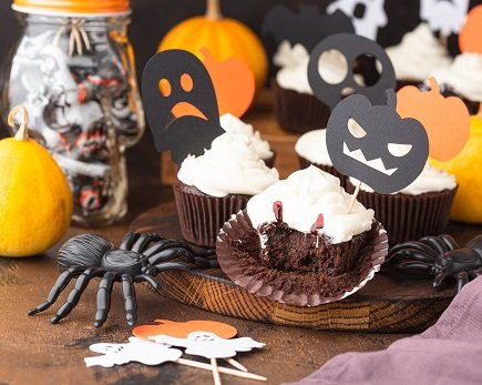 751- Brownie Cupcakes (Halloween Style) / براوني كب كيك (للهالوين)
