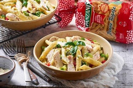 754- Chicken Pesto Pasta / معكرونة البيني بالدجاج وصلصة البيستو
