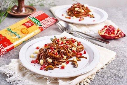 763- Caramelized Balsamic Goat cheese Spaghetti / معكرونة معسلة بصلصة البلزامك وجبنة الماعز