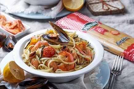 759- Linguine Frutti Di Mare / معكرونة Linguine بفواكه البحر