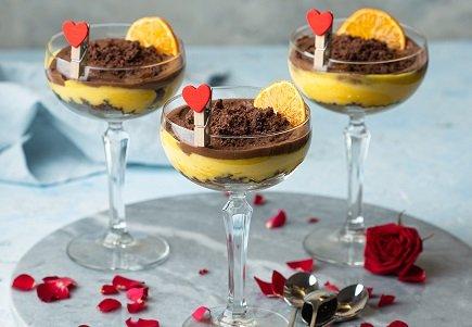769- Chocolat & Mandarine Verrine / حلي الشكلاطة و المندرين