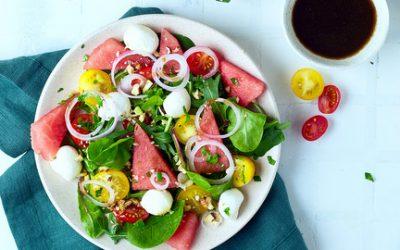 793-  سلطة البطيخ وجبنة الموزاريلا / Watermelon and Mozzarella Salad