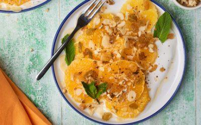 803- سلطة البرتقال بالمكسرات والقرفة / Orange Salad with cinnamon & Nuts