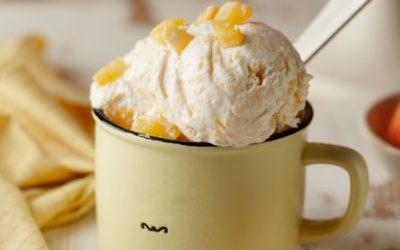 804- Peach Ice Cream / Crème Glacée aux pêches