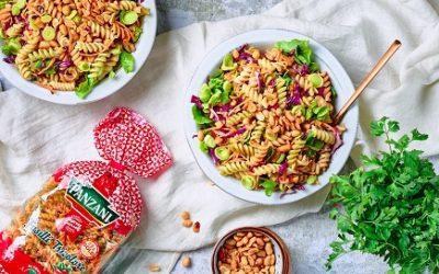 814- Thaï Pasta Salad with Peanut Butter Sauce / سلطة المعكرونة التايلاندية بصلصة زبدة الكاوكاو