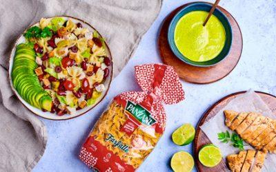 813- Pasta Salad with Avocado & Parsley Sauce / سلطة المعكرونة بالأفوكادو وصلصة البقدونس
