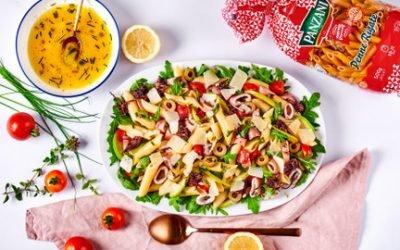 815- Penne Salad with Squids & Heart Palm / سلطة معكرونة  البيني بالكلمار وقلب النخيل