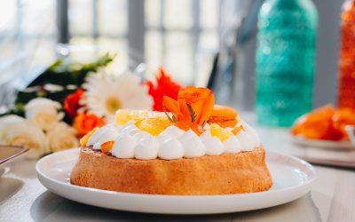 816- Almond and Orange Blossom Cake / كعكة اللوز وزهر البرتقال