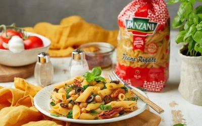 824- One Pot Penne Pasta Greek Style / معكرونة في وعاء واحد على الطريقة اليونانية