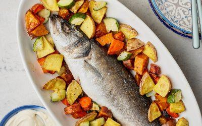 821- Baked Fish in Salt / سمك القاروص المطبوخ بالملح في الفرن