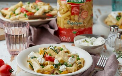 829- One Pot Rigatoni with Zucchini and Ricotta Cheese / ريجاتوني في وعاء واحد بالقرع الأخضر وجبنة ريكوتا