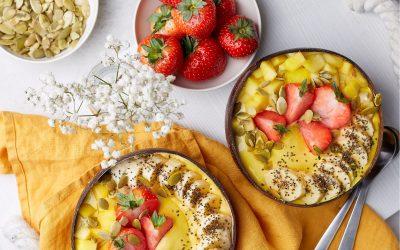 851- Creamy Mango Smoothie Bowl / عصير المانجو الكريمي