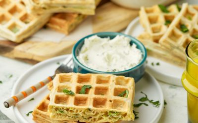 897- Zucchini Waffles / وافل بالقرع الأخضر
